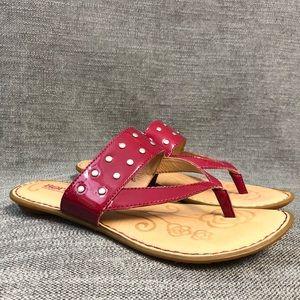 BORN sandals Womens size 9 krysten slides pink red